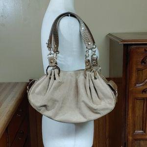 Kathy Van Zeeland Suede Shoulder Bag